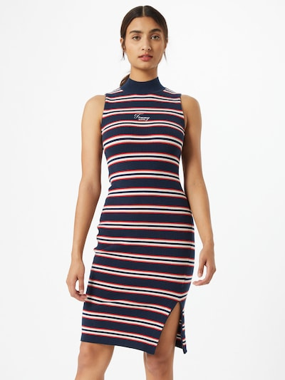 Rochie Tommy Jeans pe navy / alb: Privire frontală