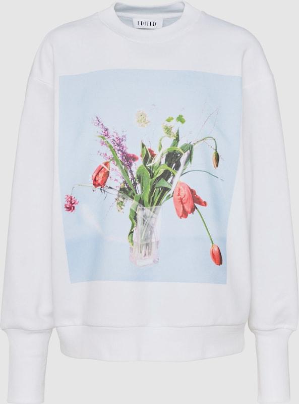 EDITED Sweatshirt 'Minnie' in mischfarben   weiß  Bequem und günstig