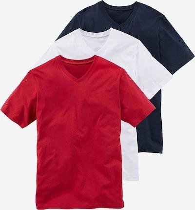 Maier Sports T-Shirt mit V-Ausschnitt (3 Stck.) in marine / rot / weiß, Produktansicht