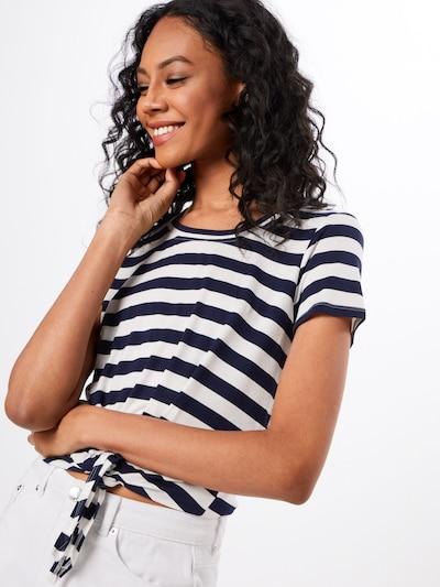 ONLY Shirt in nachtblau / weiß: Frontalansicht