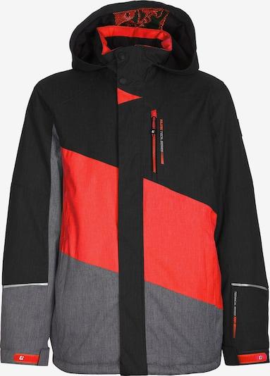 KILLTEC Skijacke 'Tamer' in grau / orangerot / schwarz, Produktansicht