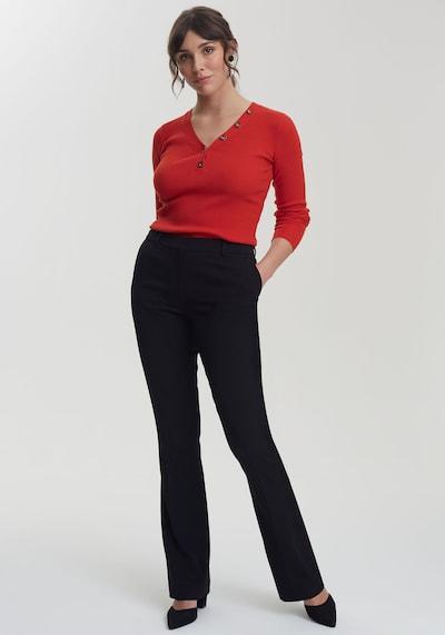 Long Tall Sally Anzughose Mix & Match – Bootcut für große Frauen in schwarz, Modelansicht
