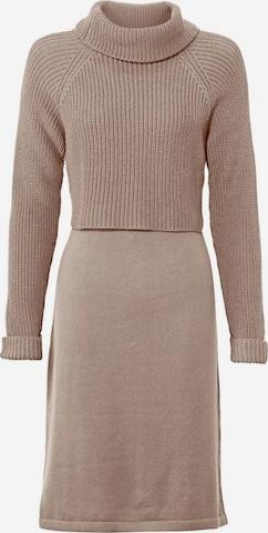 heine Kootud kleit, värv pruun