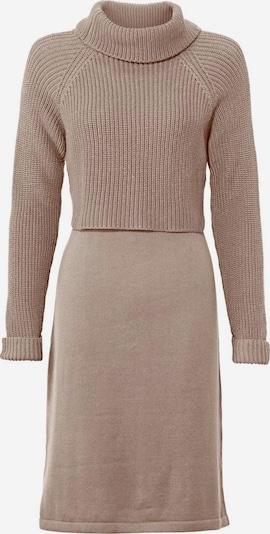 heine Robes en maille en marron, Vue avec produit