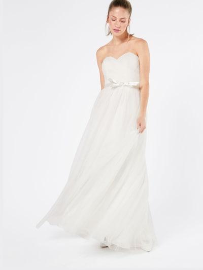 Vakarinė suknelė iš mascara , spalva - balta, Modelio vaizdas