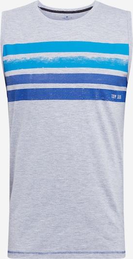 Tricou TOM TAILOR pe albastru / albastru cer / gri, Vizualizare produs