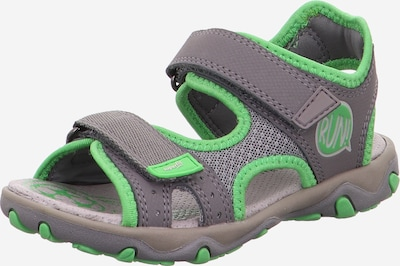 SUPERFIT Schuhe 'MIKE 3.0' in grau / grasgrün: Frontalansicht