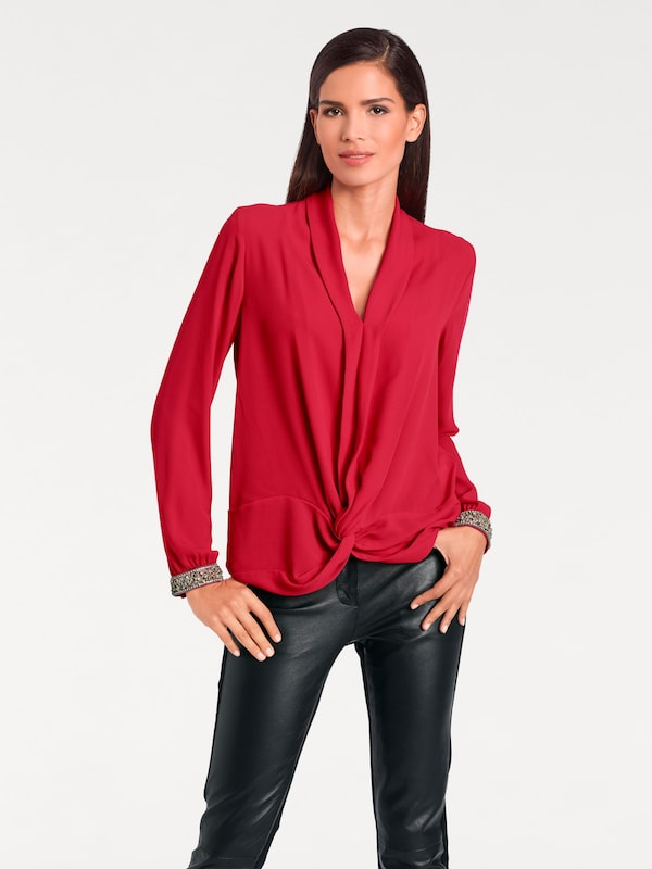 Ashley Brooke By Heine Blouse With Jewelry-cuff