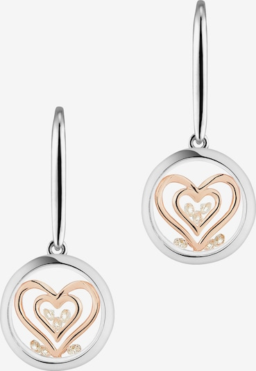 Astra Creole 'DOUBLE HEART' in rosegold / silber, Produktansicht