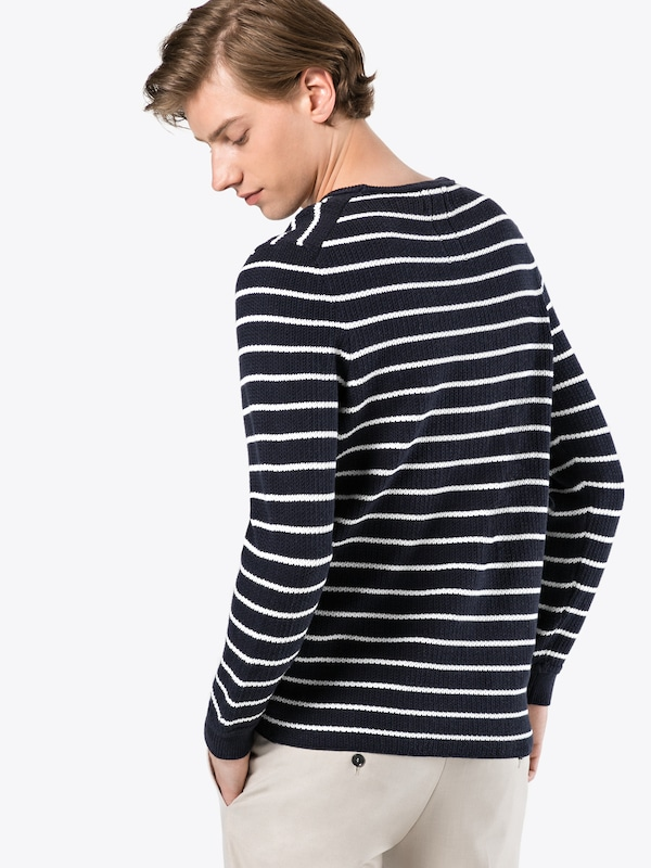 Nowadays Sweater' NoirBlanc Pull En Structure over 'heavy Cotton WQCBoerEdx