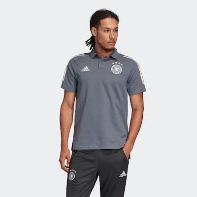 ADIDAS PERFORMANCE Poloshirt 'DFB EM 2020' in grau / weiß: Frontalansicht