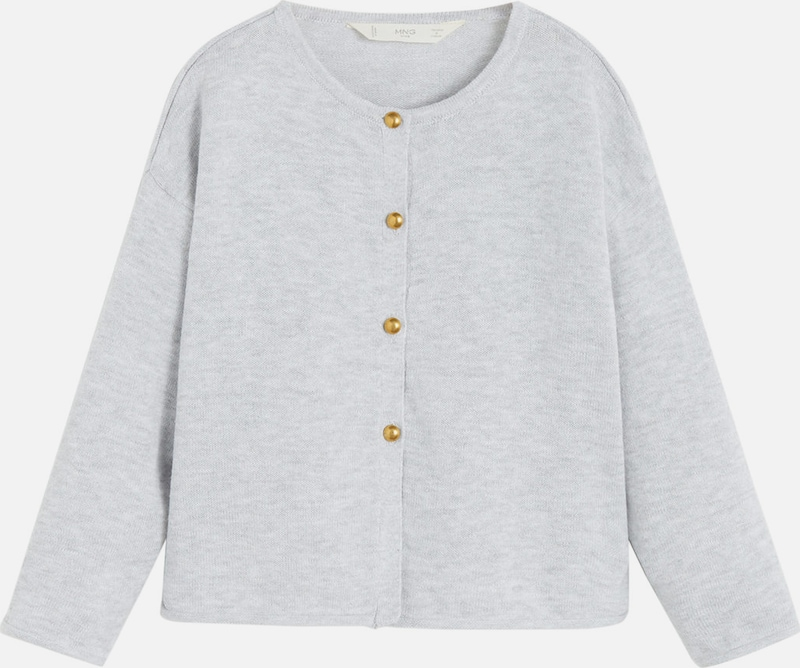 MANGO KIDS Cardigan 'MILEY' in grau, Produktansicht