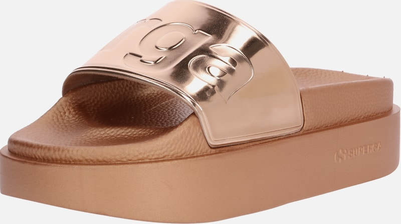 SUPERGA Slipper '1919' in gold / rosegold, Produktansicht