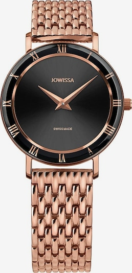 JOWISSA Quarzuhr 'Roma' Swiss Ladies Watch in rosegold / schwarz, Produktansicht
