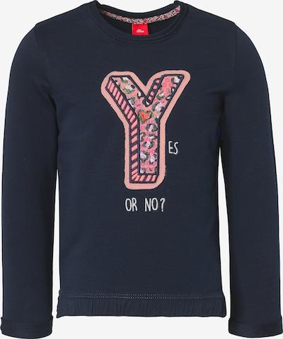 s.Oliver Junior Sweatshirt in dunkelblau / altrosa / hellrot, Produktansicht