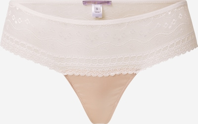 blush Lingerie String 'Sava' in de kleur Crème, Productweergave