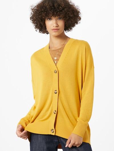 Geacă tricotată ESPRIT pe galben: Privire frontală