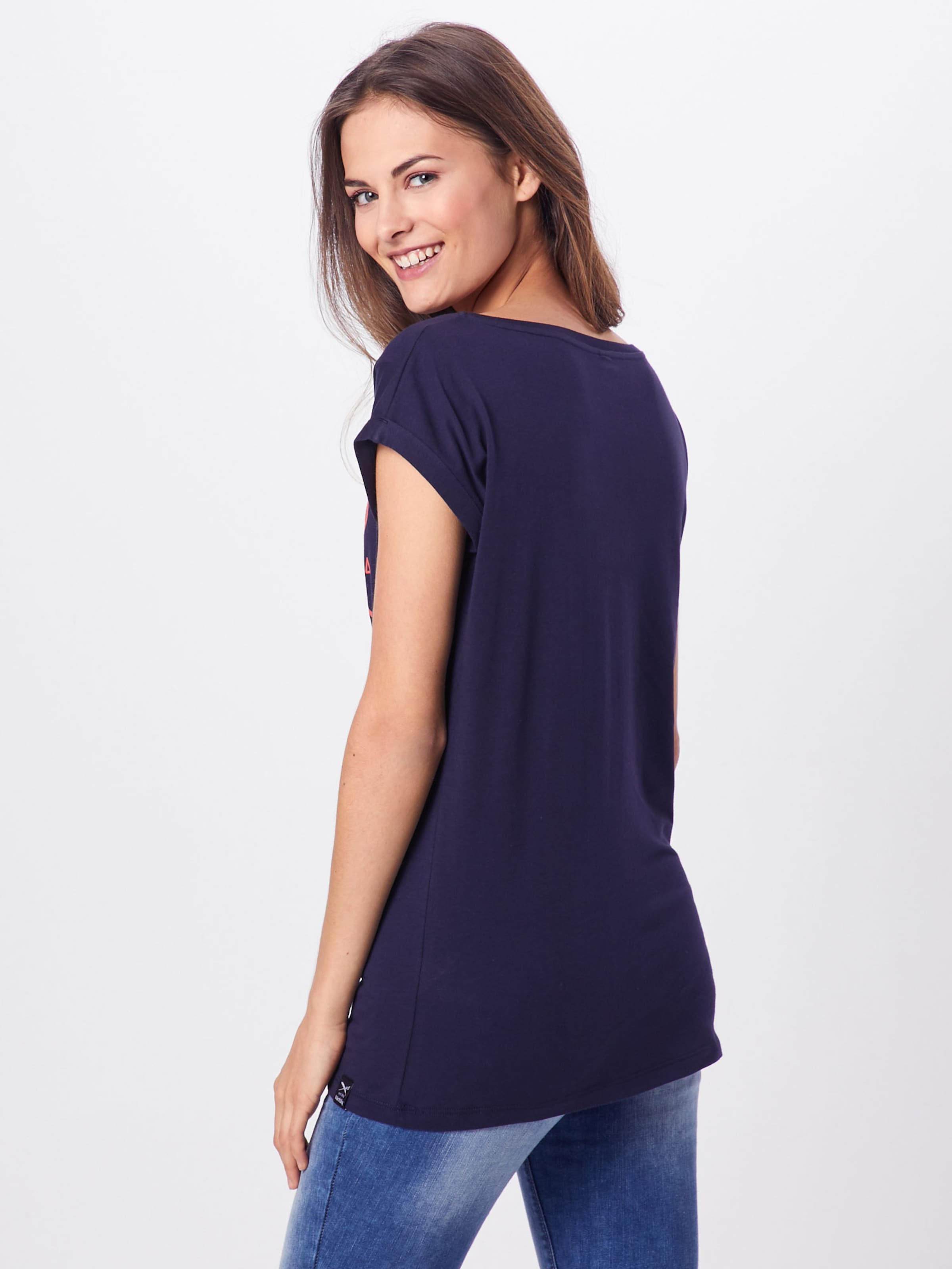 shirt Iriedaily T Bleu MarineSaumon En tshQrCd