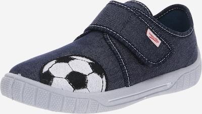 SUPERFIT Mājas apavi 'Bill' zils džinss / melns / balts, Preces skats
