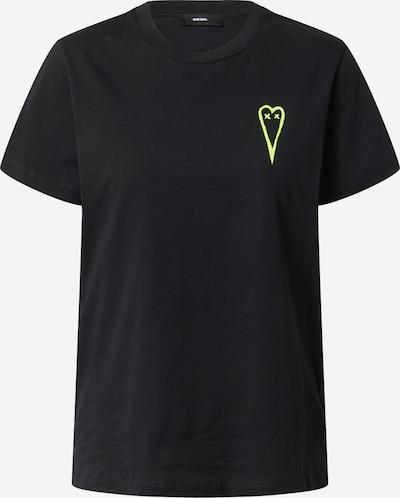 DIESEL T-Shirt 'T-Sily-E50' in gelb / schwarz, Produktansicht