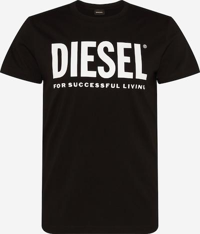 DIESEL T-Shirt 'DIEGO' en noir / blanc, Vue avec produit