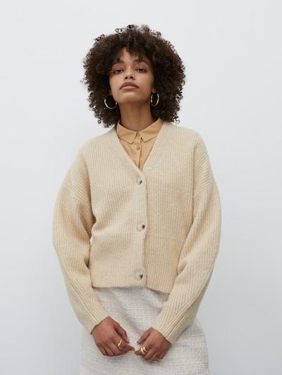 EDITED Strickjacke 'Susan' in beige, Modelansicht