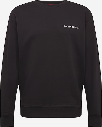 DENHAM Sweatshirt 'THURMAN' in schwarz / weiß, Produktansicht