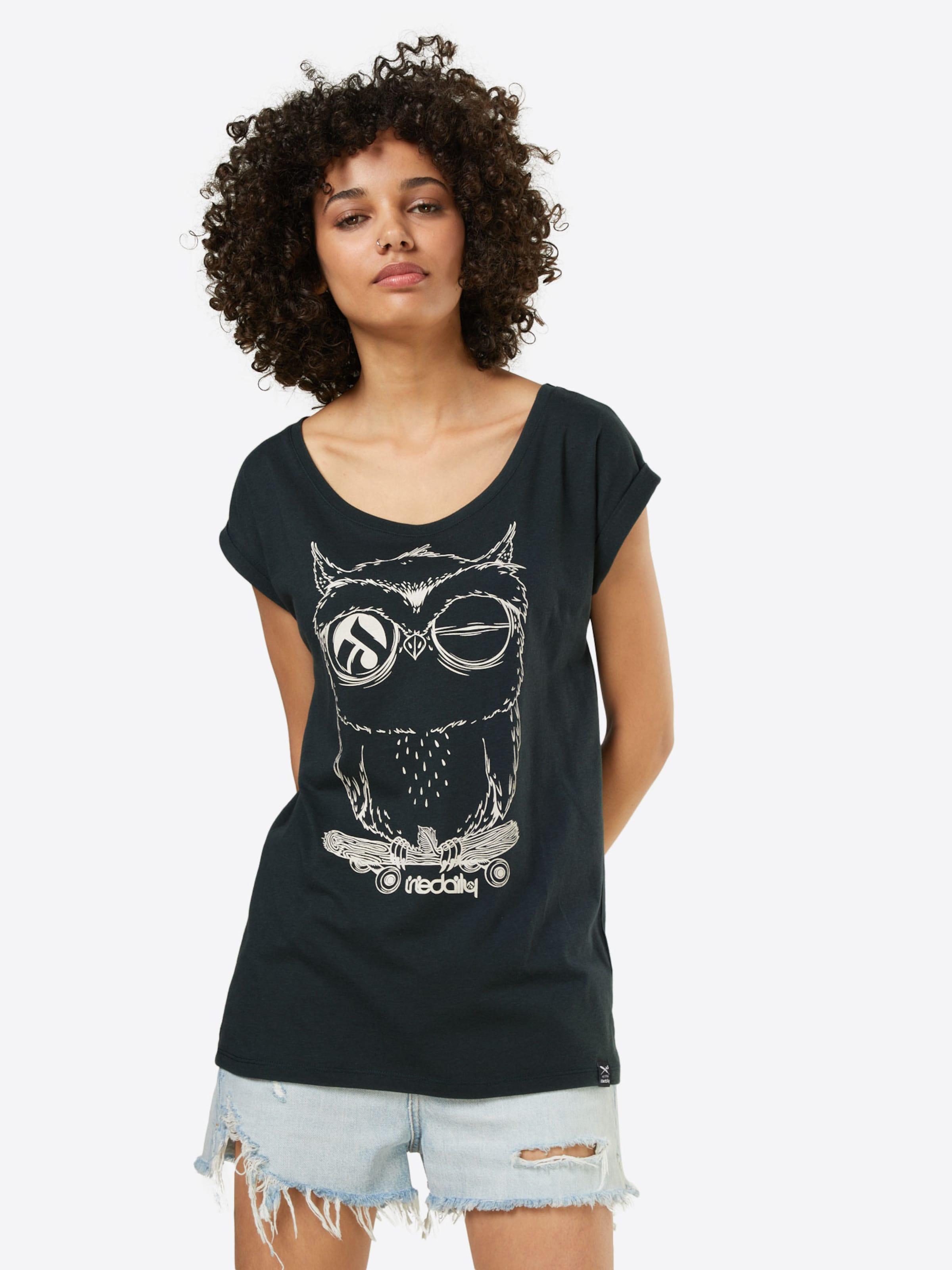 En Iriedaily shirt BasalteBlanc Cassé 'skateowl T Gris 2' roCBxWde