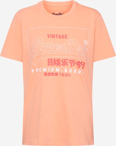 Superdry T-Shirt 'PG LABEL OUTLINE ENTRY TEE' in pink: Frontalansicht