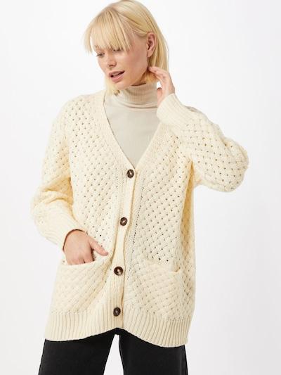 Molly BRACKEN Cardigan en jaune pastel, Vue avec modèle