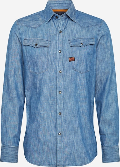 G-Star RAW Hemd 'Max' in blue denim, Produktansicht