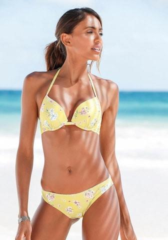 SUNSEEKER Bikinitopp 'Ditsy' i gul