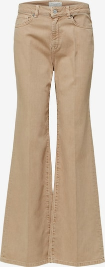 SELECTED FEMME High Waist Bootcut-Jeans in beige, Produktansicht