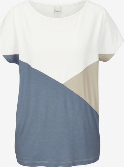 heine Shirt in de kleur Beige / Blauw / Wit, Productweergave