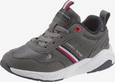 TOMMY HILFIGER Sneaker in navy / grau / rot / weiß, Produktansicht