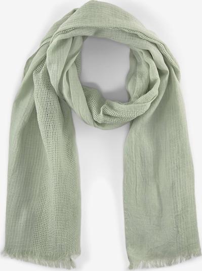 TOM TAILOR Accessoire Schal mit Streifenstruktur in grün, Produktansicht