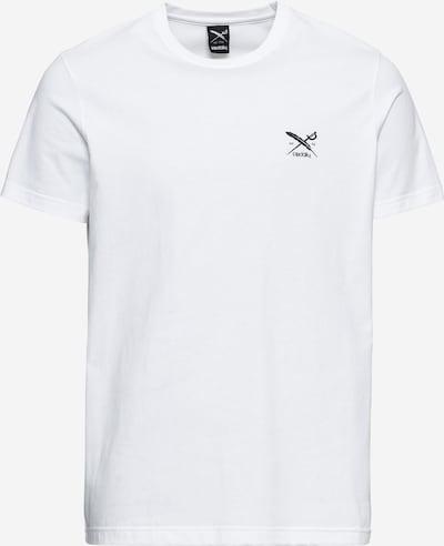 Iriedaily Tričko 'Chestflag' - černá / bílá, Produkt
