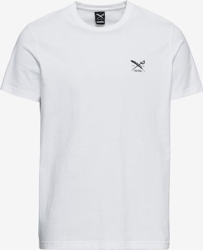 Tricou 'Chestflag' Iriedaily pe negru / alb: Privire frontală
