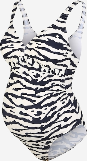 MAMALICIOUS Badeanzug in schwarz / weiß, Produktansicht