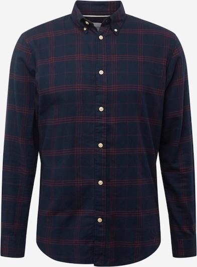 SELECTED HOMME Hemd in dunkelblau / weinrot, Produktansicht