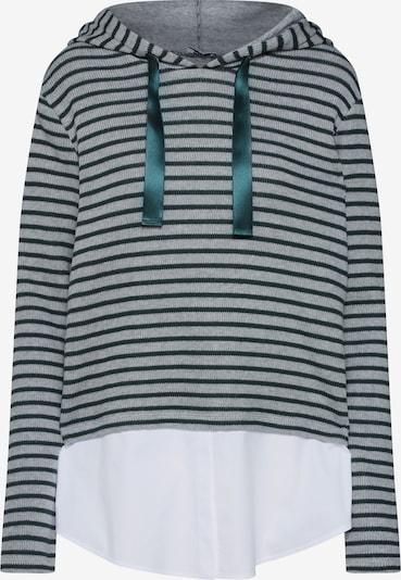 re.draft Pulover 'Striped Hoodie' | siva / zelena / bela barva, Prikaz izdelka