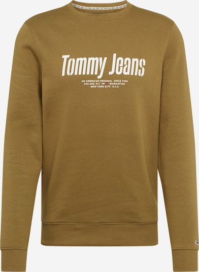 Tommy Jeans Sweatshirt 'TJM ESSENTIAL GRAPHIC CREW' in oliv, Produktansicht