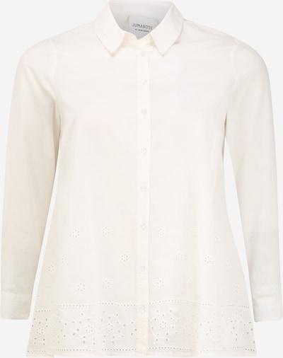 Bluză 'JRABIGAIL LS LONG SHIRT GA - K' Junarose pe alb, Vizualizare produs