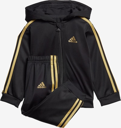 ADIDAS PERFORMANCE Trainingspak 'Shiny' in de kleur Goud / Zwart, Productweergave