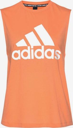 ADIDAS PERFORMANCE Sporttop in orange / weiß, Produktansicht