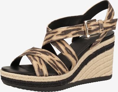 GEOX Sandalen met riem in de kleur Beige / Zwart, Productweergave