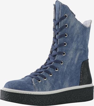 ANDREA CONTI Schnürstiefelette in blue denim / schwarz, Produktansicht