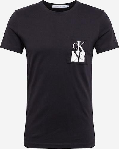 Tricou 'MIRRORED MONOGRAM PKT SLIM TEE' Calvin Klein Jeans pe negru / alb, Vizualizare produs
