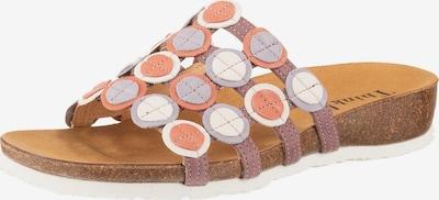 THINK! Pantolette 'Julia' in flieder / koralle / rosé / weiß, Produktansicht