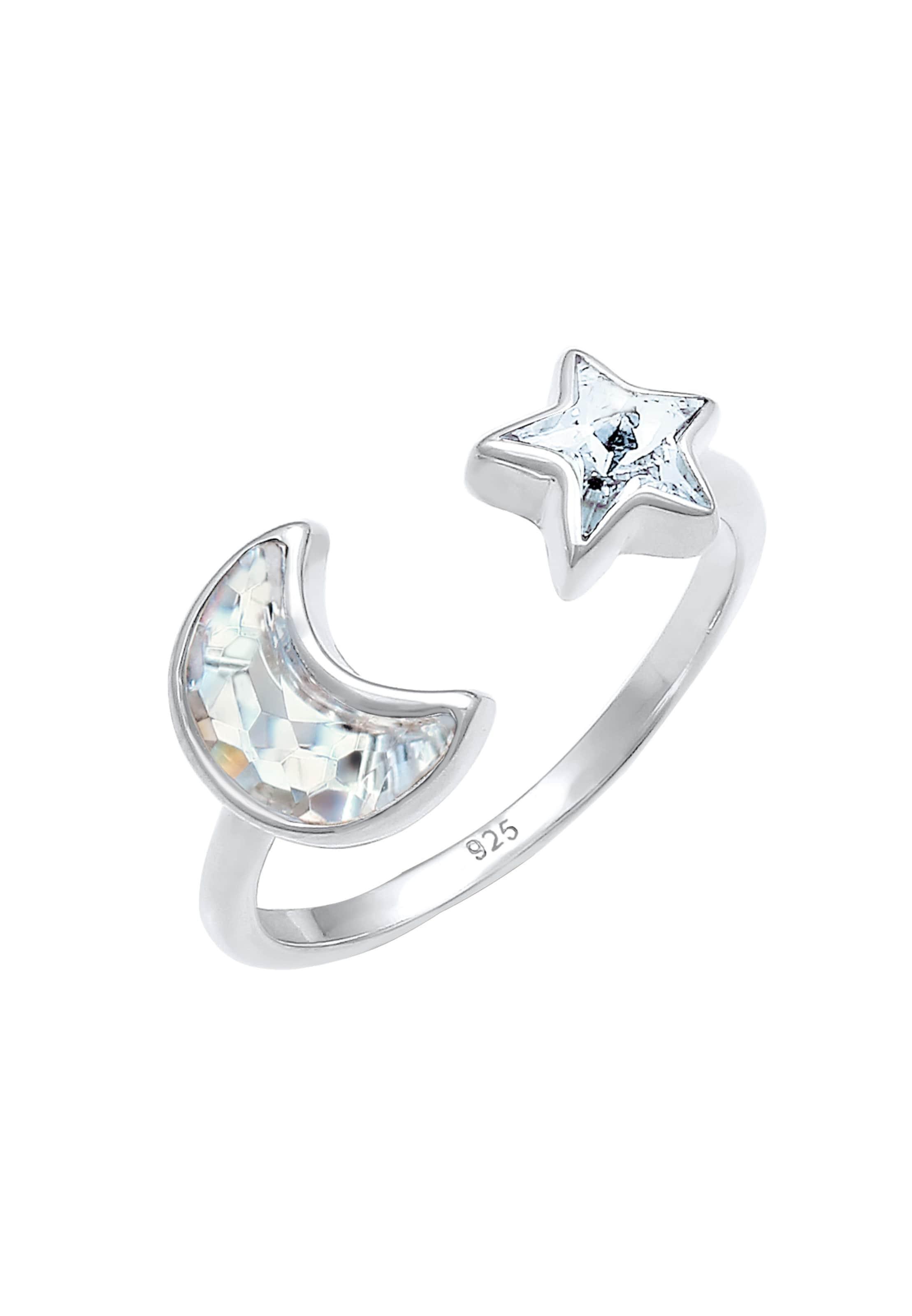 In Silber Elli 'halbmondSterne' Elli Ring Ring PwN8kZnOX0